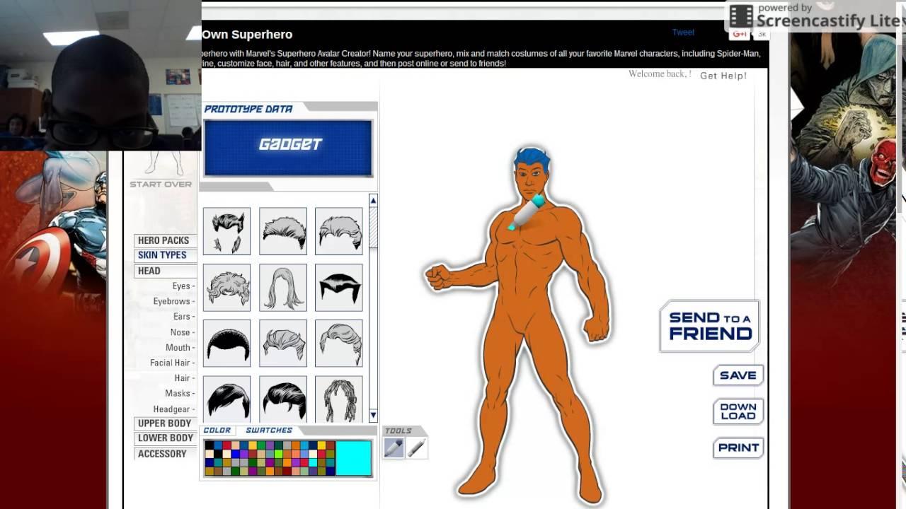 gadget pt1 superhero creator youtube