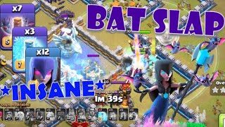 *NEW STRATEGY* TH12 Bat Slap! Wrecking World Tournament Warbases!