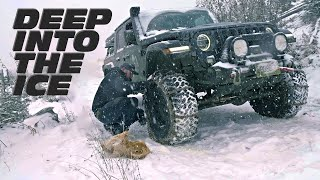 Deep Into The Ice | Jeep Gladiator & JL Wrangler Off-Road Snow Wheeling Adventure