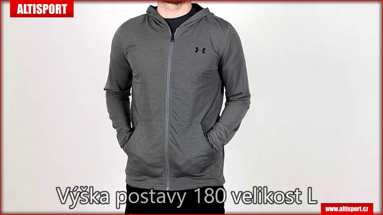 142b23f1bec pánská mikina under armour threadborne fitted fz hoody 1290301 040  graphiteblack