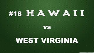 #18 Rainbow Wahine Vs West Virginia