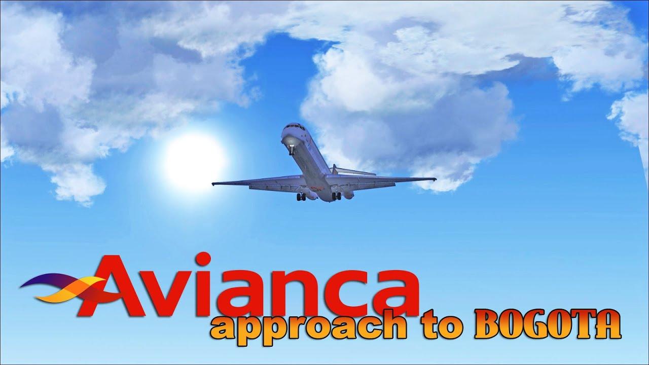 FSX [HD] - Avianca | MD80 | Approach to Bogota, Colombia