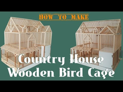 Country House Ahşap Kuş Kafesi (Wooden Bird Cage)