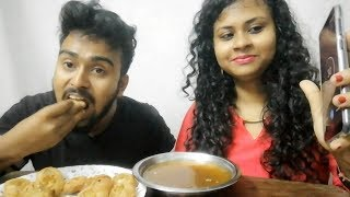panipuri chat eating