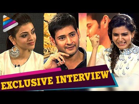 Brahmotsavam Telugu Movie | Samantha Interviews Mahesh Babu and Kajal Aggarwal | Telugu Filmnagar