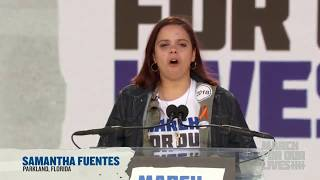 Samantha Fuentes Speaks at March For Our Lives -