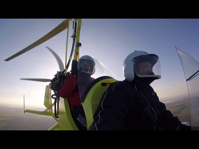 Neil Flies in a Gyroplane