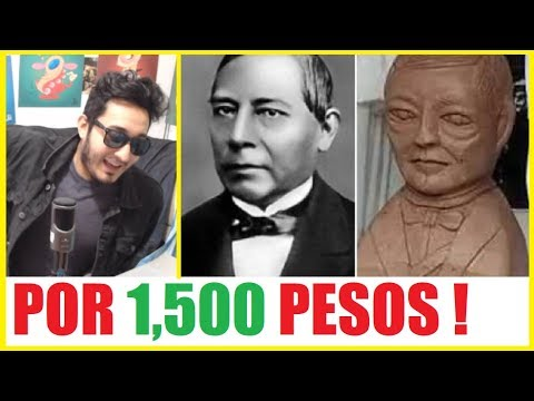 1,500 pesos cobr� el artista por el busto de Benito Juarez ANALIZAMOS LOS MEMES