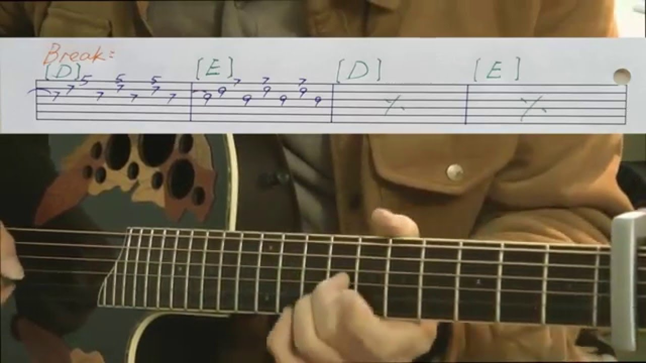 500 Miles Guitar With Tablature Youtube