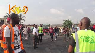 Footage from the accident at Otedola Bridge Explosion. May The Soul Of The Departed Rest In Peace