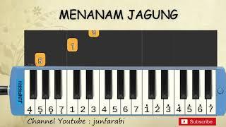 not pianika menanam jagung - tutorial belajar pianika lagu anak - not angka menanam jagung