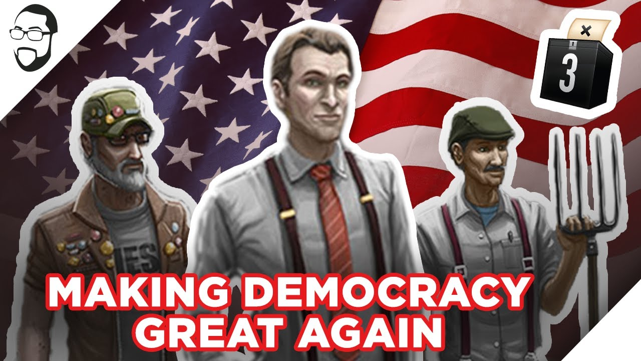 Democracy 3 Right Wing Playthrough
