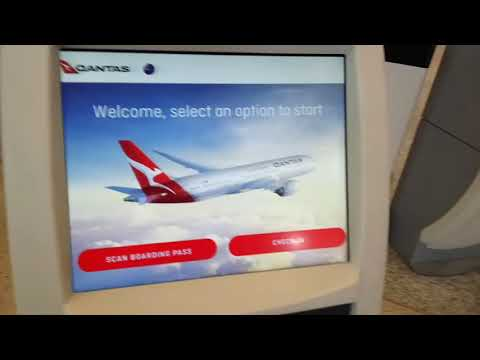 Qantas Check In Kiosk And Self Serve Bag Drop