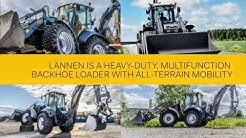 Lännen is a heavy-duty, multifunction backhoe loader with all-terrain mobility