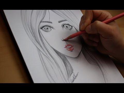 تعليم الرسم تعلم رسم الوجه بالرصاص للمبتدئين مع خطوات بسيطة رسم ملامح الوجه Youtube