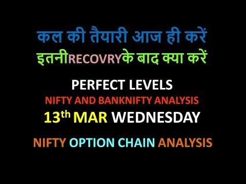 Bank Nifty & Nifty tomorrow 13th March 2019 daily chart Analysis SIMPLE ANALYSIS POWERFUL RESULTS