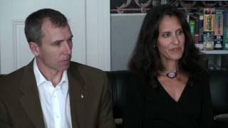 Astronaut Andrew Feustel and his wife Indira at the American Center