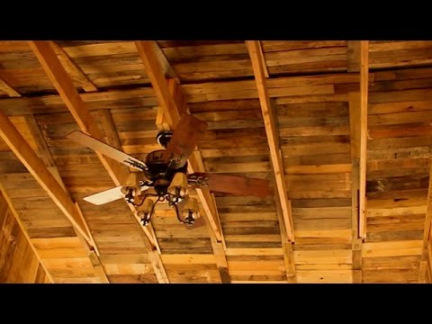 Free Rustic Wood Ceiling Homemade Pallet Building