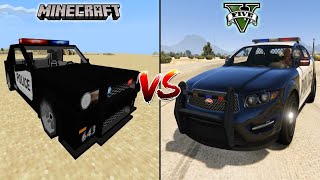 MINECRAFT POLICE CAR VS GTA 5 POLICE CAR - WHICH IS BEST?