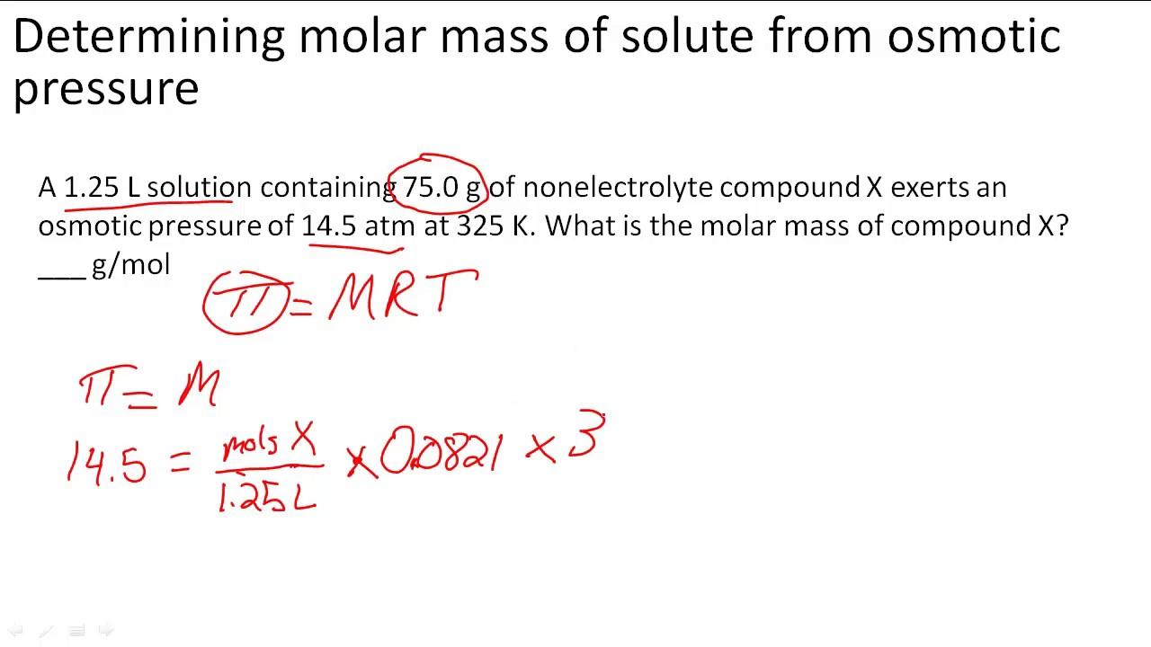 formula for molar mass