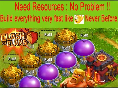 How to build everything very fast without gems?|clash of clans