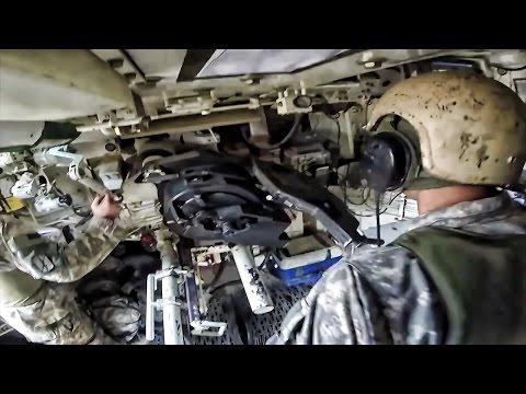 u s army artillery inside the m109a6 paladin