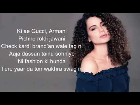 Lyrics The Wakhra Song Judgementall Hai Kya Kangana R & Rajkummar ,navv Inder,lisa,raja Kumari