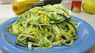 Zucchini Pasta Salad With Parmesan | Dietplan-101.com