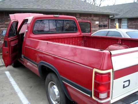 For sale 1991 Red Dodge 3/4 Ton 360 V8...