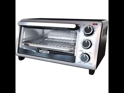 Black & Decker 4-Slice Toaster Oven, Stainless Steel