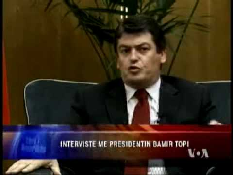 Intervistë me Presidentin bamir Topi