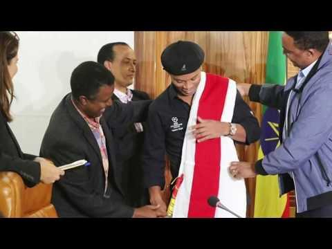 Ethiopian Sport    Incredible scenes as Ronaldinho visits Ethiopia 2018