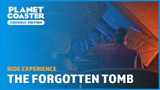Riding 'Uncovering The Forgotten Tomb' - Frontier Workshop - Planet Coaster: Console Edition
