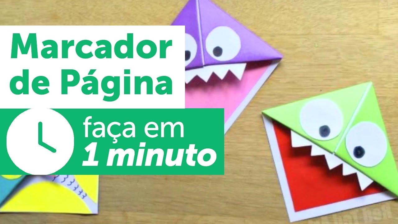 Papminuto Marcador De Pagina De Origami Youtube