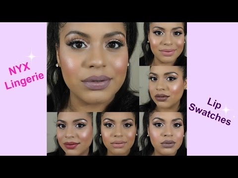 NYX Lip Lingerie Swatch/Review | Crystal Britney