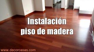 Como instalar piso de madera, instalacion de parquet, pegado de parquet