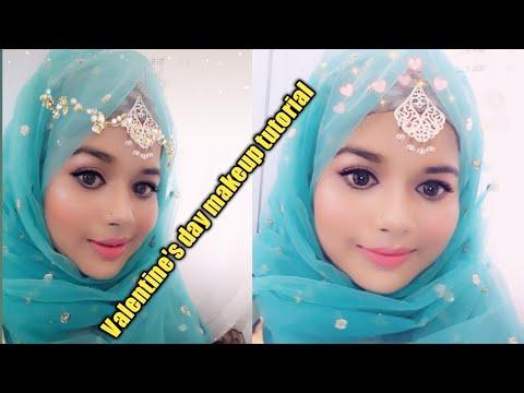 Valentine day makeup tutorial/ Bangladeshi Vlogger/ Original makeup tutorial
