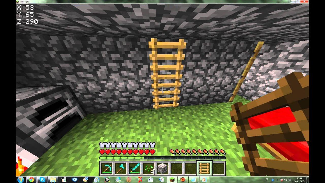 Como fazer escada de parede, cama, vidro e janela! Minecraft 146  YouTube -> Como Fazer Banheiro Moderno No Minecraft