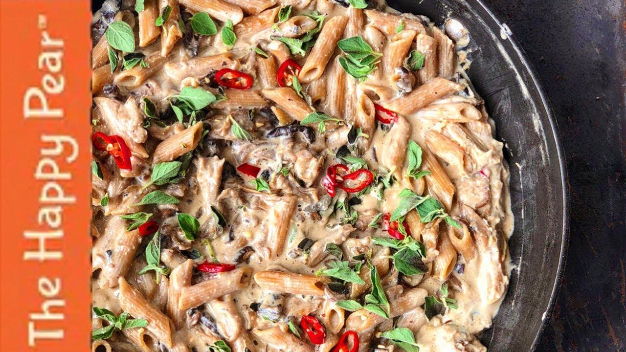 Creamy Mushroom Pasta Oil Free Vegan Youtube
