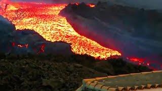 La lava en La Palma produce un