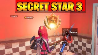 FORTNITE SEASON 10 WEEK 3 SECRET BATTLE STAR LOCATION ( SEASON X )