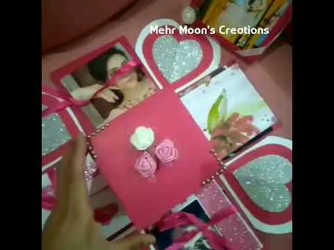 how to mak Explosion box, Explosion Box Tutorial, DIY, Gift Idea, Craft, Greeting Cards, Gift for Bo