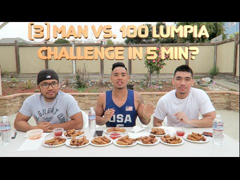 3-MAN VS. 100 LUMPIA CHALLENGE | FILIPINO CUISINE | EAT OFF