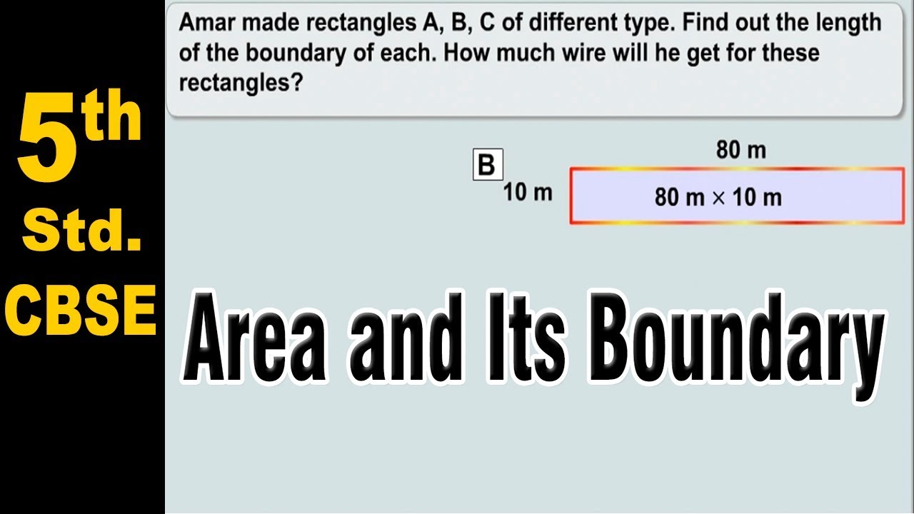 Area And Its Boundary Class 5 Science Ncert Cbse Board