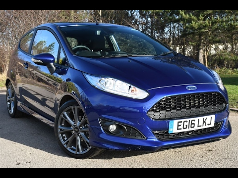 Fiesta St Line 140 >> Used Ford Fiesta 1.0 EcoBoost 140 ST-Line 3dr Deep Impact Blue 2016 - YouTube
