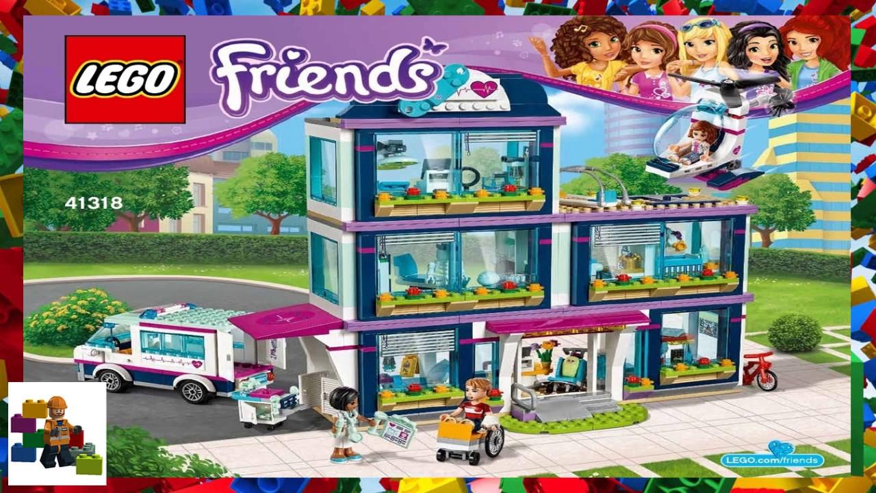 Lego Instructions Friends 41318 Heartlake Hospital Youtube
