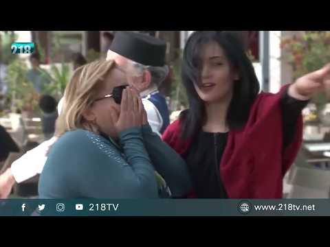 الكاميرا الخفية  الليبية في تونس الحلقة السادسة   لعبة الكراسي في القهوة