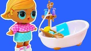 LOL Surprise Dolls Unboxing Calico Critters Bathroom Set | Розпакування Ляльки ЛОЛ | Мультик ЛОЛ