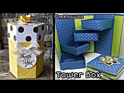 Tutorial : How to make Tower Box   DIY   Gift Idea   Handmade Gifts   Somya Shekhawat