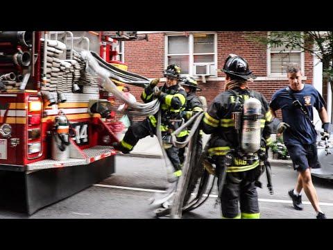 **Pre-Arrival 10-75** [ Manhattan Box 1203 ] All-Hands Fire in 4th Floor Apartment